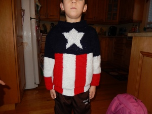 Captain America Sweater (Front)