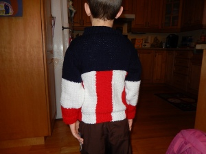 Captain America Sweater (Back)
