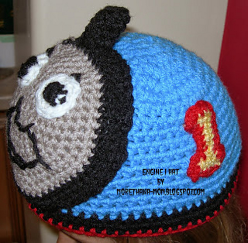 More Than A Mom Crochet Engine 1 Hat